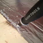 This is a tool used for cutting out sheet rock for wall outlets, came in real handy.