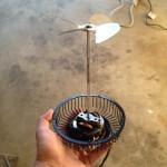 Fan shown with shaft extension.