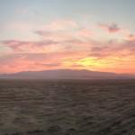 Sunset on the playa.